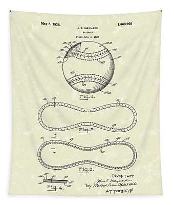 Baseball By Maynard 1928 Patent Art Tapestry