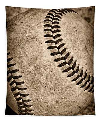 Baseball Old And Worn Tapestry