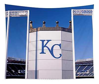 Baseball Stadium, Kauffman Stadium Tapestry