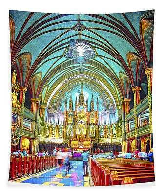 Basilique Notre Dame Montreal Quebec Canada Tapestry