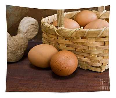Basket Of Farm Fresh Eggs Tapestry