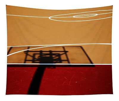 Basketball Shadows Tapestry