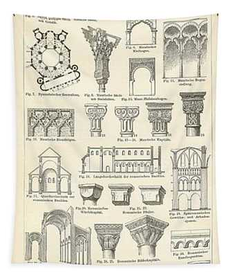 Baustile I And Baustile II Tapestry