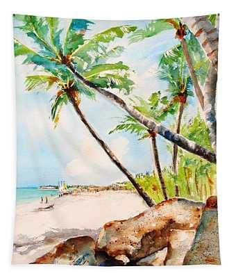 Bavaro Tropical Sandy Beach Tapestry