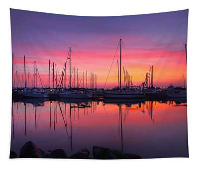 Bayfield Wisconsin Magical Morning Sunrise Tapestry