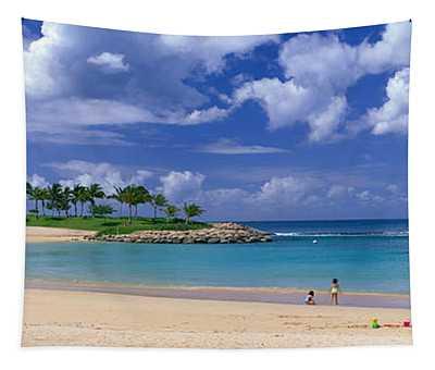 Beach At Ko Olina Resort Oahu Hawaii Usa Tapestry