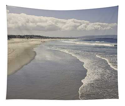 Tapestry featuring the photograph Beach At Santa Monica by Kim Hojnacki