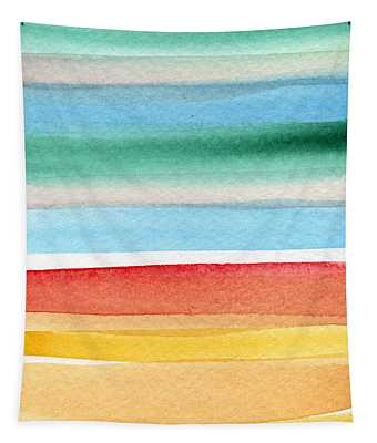 Beach Blanket- Colorful Abstract Painting Tapestry