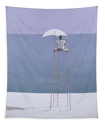 Beach Guard Tapestry