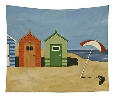 Beach Huts Tapestry