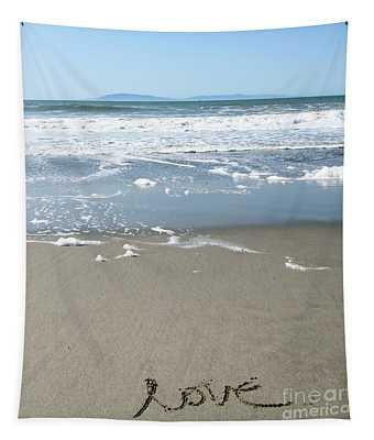 Beach Love Tapestry