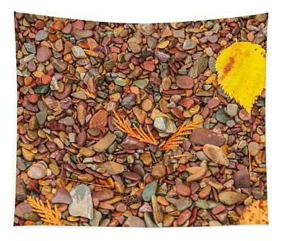 Beach Pebbles Of Montana Tapestry