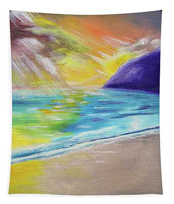 Beach Reflection Tapestry