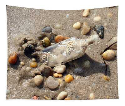 Beached Bottle Tapestry