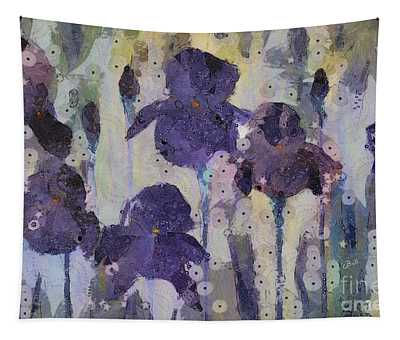 Bearded Irises Tapestry