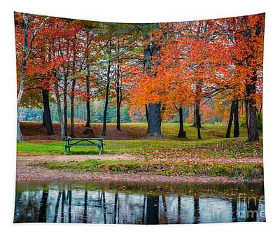 Beautiful Fall Foliage In New Hampshire Tapestry