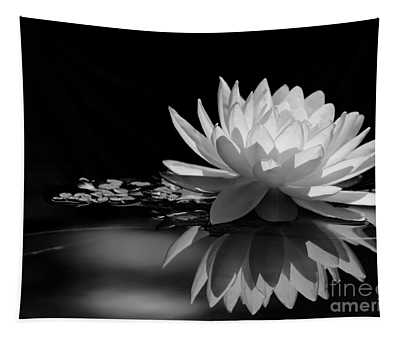 Beautiful Water Lily Reflections Tapestry