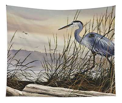 Beauty Along The Shore Tapestry