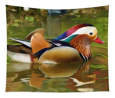 Beauty In The Pond Tapestry
