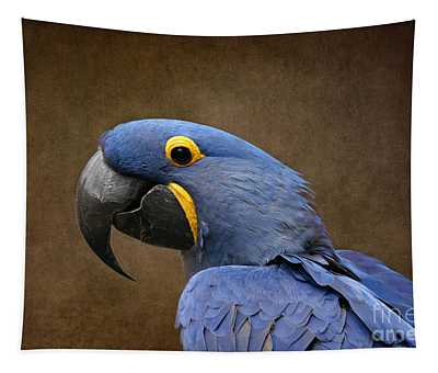 Beauty Is An Enchanted Soul - Hyacinth Macaw - Anodorhynchus Hyacinthinus Tapestry