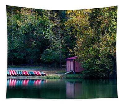 Beavers Bend Reflection Tapestry