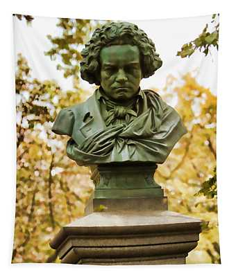 Beethoven In Central Park Tapestry