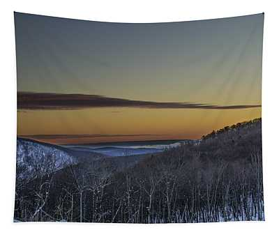 Before Sunrise In The Pocono Mountains Tapestry
