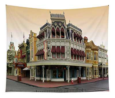 Before The Gates Open Magic Kingdom Main Street. Tapestry