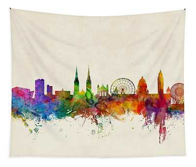 Belfast Northern Ireland Skyline Tapestry