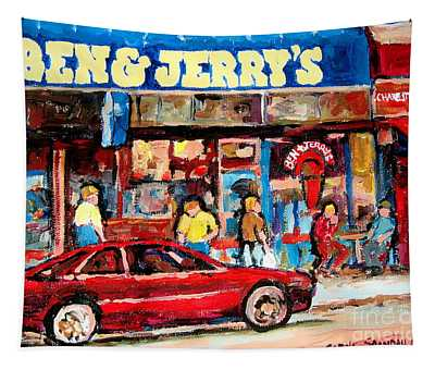 Ben And Jerrys Ice Cream Parlor Tapestry