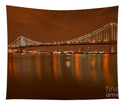 Ben Franklin Bridge Portrait Tapestry