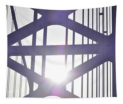Ben Franklin Bridge Span Tower Tapestry