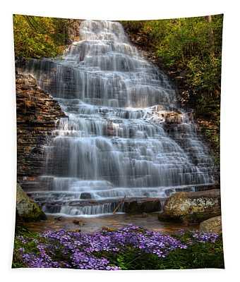 Benton Falls In Spring Tapestry