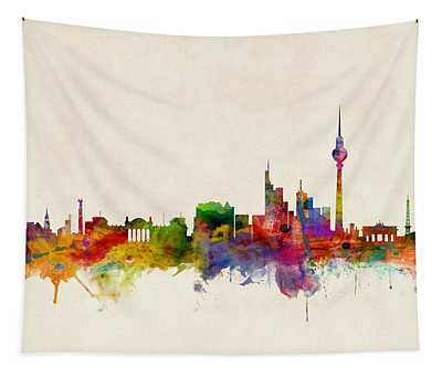 Berlin City Skyline Tapestry