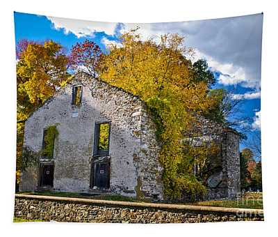 Tapestry featuring the photograph Bethlehem Baptist  Church Ruins by Gary Keesler