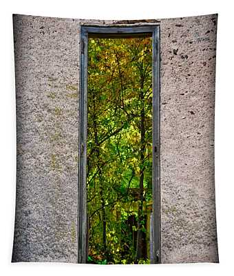Tapestry featuring the photograph Bethlehem Baptist Garden Window by Gary Keesler