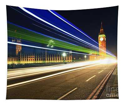 Big Ben And A Bus Tapestry