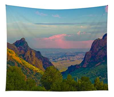 Big Bend Texas From The Chisos Mountain Lodge Tapestry