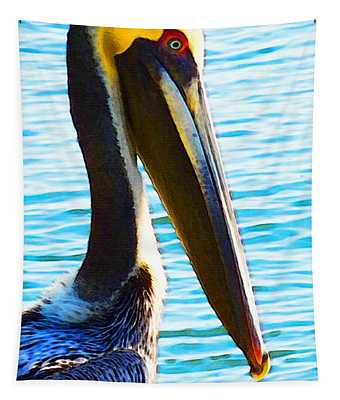 Big Bill - Pelican Art By Sharon Cummings Tapestry