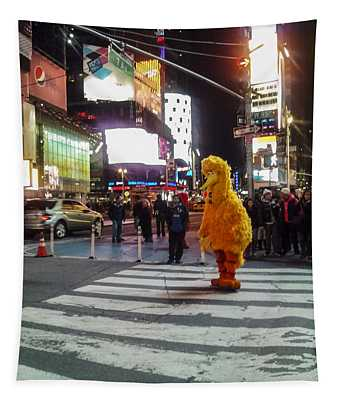 Big Bird On Times Square Tapestry