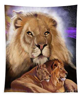 Third In The Big Cat Series - Lion Tapestry