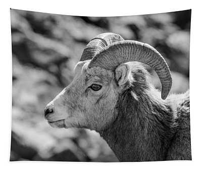 Big Horn Sheep Profile Tapestry