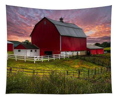 Big Red At Sunset Tapestry