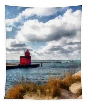Big Red Big Wind Tapestry