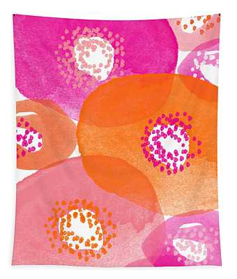 Big Spring Flowers- Contemporary Watercolor Painting Tapestry