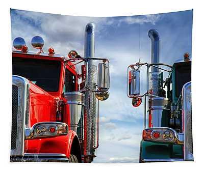 Big Trucks Tapestry