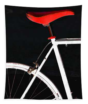 Bike In Black White And Red No 1 Tapestry
