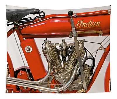Bike - Motorcycle - Indian Motorcycle Engine Tapestry