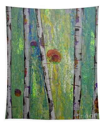 Birch - Lt. Green 5 Tapestry