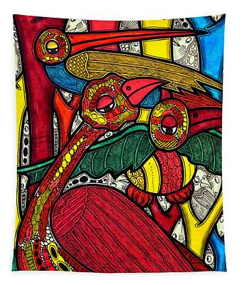 Bird Life Tapestry